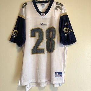 St. Louis Rams Marshall Faulk #28 Pro HOF Mens XL